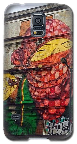 Galaxy S5 Case featuring the painting Globe Building Art Painting by Sheila Mcdonald