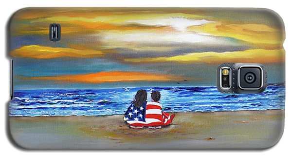 Galaxy S5 Case featuring the painting Glory by Barbara Hayes