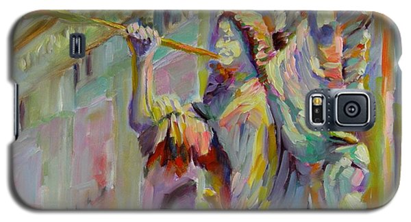 Galaxy S5 Case featuring the painting Glory To God In The Highest by Chris Brandley