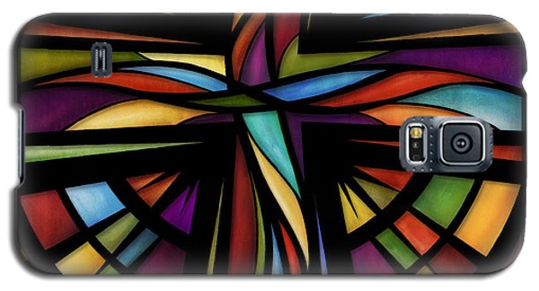 Galaxy S5 Case featuring the mixed media Glory To God by Shevon Johnson