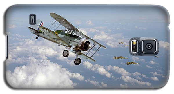 Galaxy S5 Case featuring the digital art  Gloster Gladiator - Malta Defiant by Pat Speirs