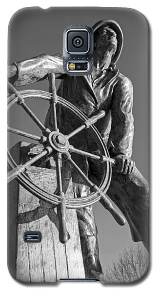 Gloucester Fisherman's Memorial Statue Black And White Galaxy S5 Case