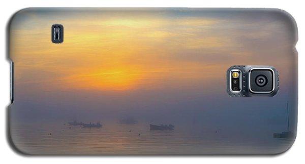 Gloucester Harbor Foggy Sunset Galaxy S5 Case