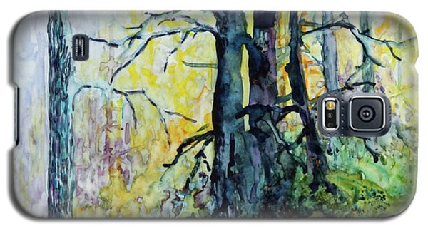 Galaxy S5 Case featuring the painting Glow From The Tamarack by Joanne Smoley