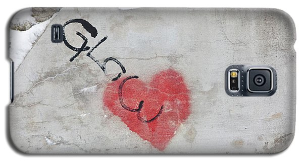Galaxy S5 Case featuring the photograph Glow Heart by Art Block Collections