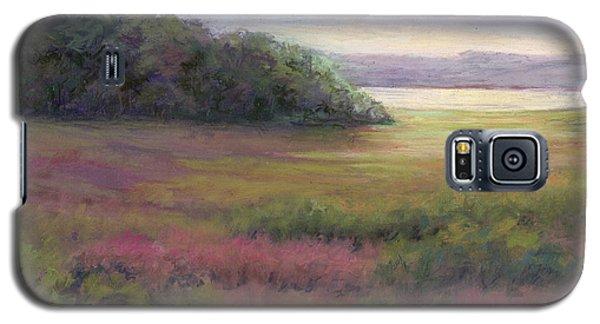 Galaxy S5 Case featuring the painting Glow On Gilsland Farm by Vikki Bouffard