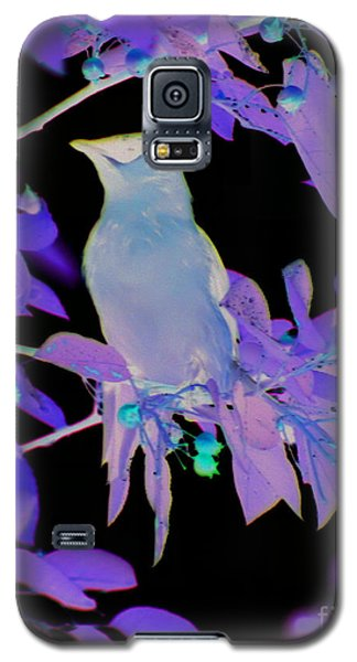 Galaxy S5 Case featuring the photograph Glowing Cedar Waxwing by Smilin Eyes  Treasures