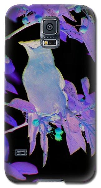 Glowing Cedar Waxwing Galaxy S5 Case
