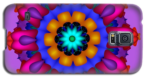 Glowing Fractal Flower Galaxy S5 Case