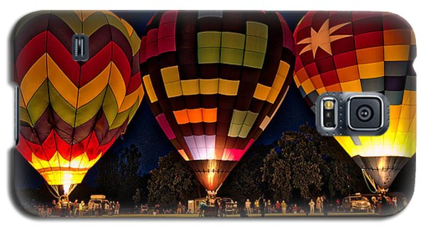 Glowing Hot Air Ballons Galaxy S5 Case
