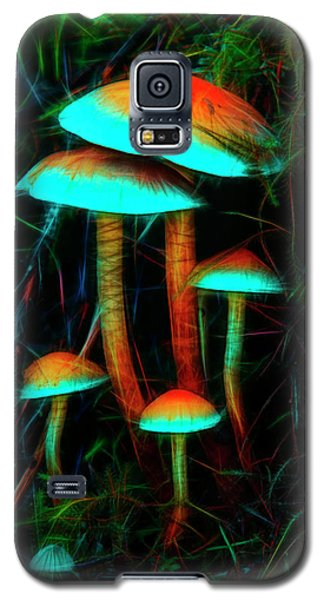 Galaxy S5 Case featuring the photograph Glowing Mushrooms by Yulia Kazansky