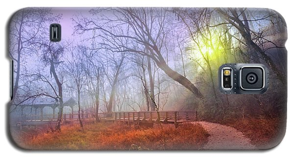 Galaxy S5 Case featuring the photograph Glowing Through The Trees by Debra and Dave Vanderlaan