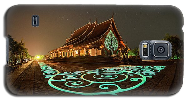 Glowing Wat Sirintorn Wararam Temple, Ubon Galaxy S5 Case