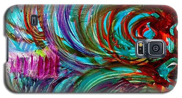 Galaxy S5 Case featuring the painting Go With The Flow by Julie  Hoyle