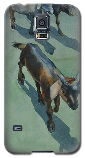 Galaxy S5 Case featuring the painting Goat by Helal Uddin