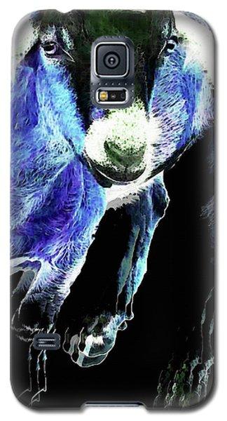 Goat Pop Art - Blue - Sharon Cummings Galaxy S5 Case by Sharon Cummings