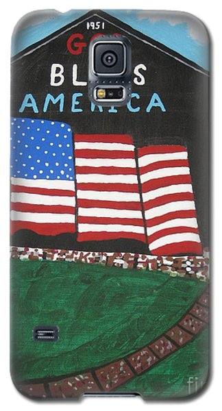 Galaxy S5 Case featuring the painting God Bless America Barn by Jeffrey Koss