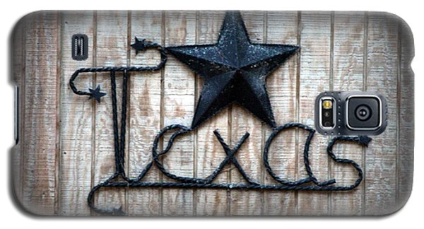 Galaxy S5 Case featuring the photograph God Bless Texas by Kathy  White