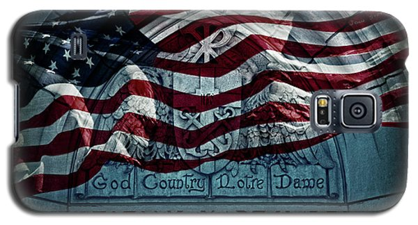 Florida State Galaxy S5 Case - God Country Notre Dame American Flag by John Stephens