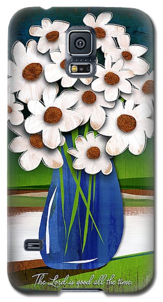 Galaxy S5 Case featuring the mixed media God Is Good All The Time by Shevon Johnson
