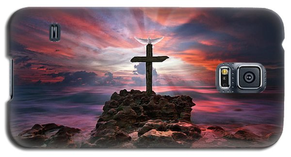 God Is My Rock Special Edition Fine Art Galaxy S5 Case by Justin Kelefas