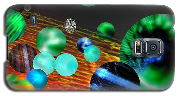 Galaxy S5 Case featuring the digital art God Playing Marbles Tribute To Donovan by Seth Weaver