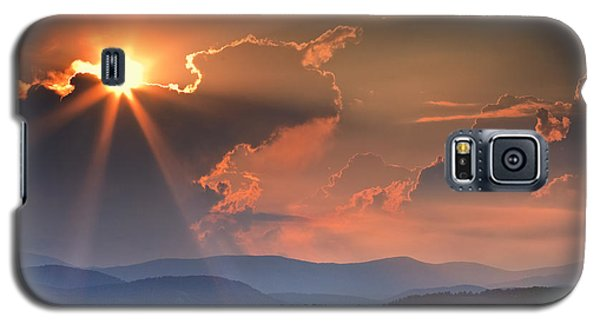 God Rays Over N C  Mountains Galaxy S5 Case