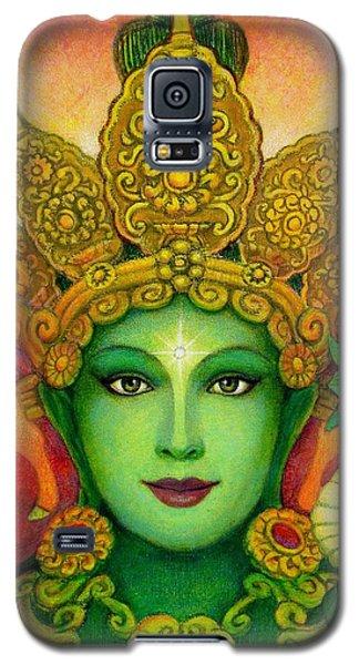 Goddess Green Tara's Face Galaxy S5 Case by Sue Halstenberg