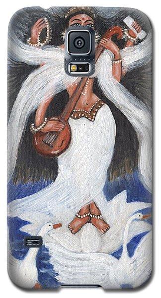 Galaxy S5 Case featuring the painting Goddess Of Arts by Saranya Haridasan
