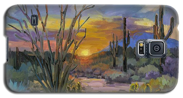 God's Day - Sonoran Desert Galaxy S5 Case by Diane McClary