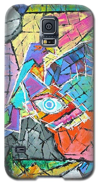 God's Eye, Like Eagle, Roams Earth, Night And Day Galaxy S5 Case by Jeremy Aiyadurai