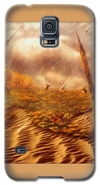 Galaxy S5 Case featuring the painting Gods Hand Painting With Life by Robby Donaghey