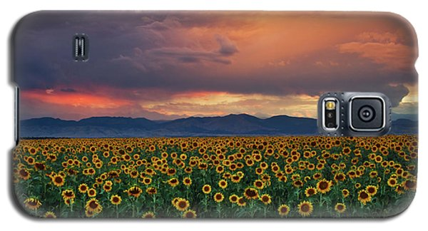 Galaxy S5 Case featuring the photograph God's Sunflower Sky by John De Bord
