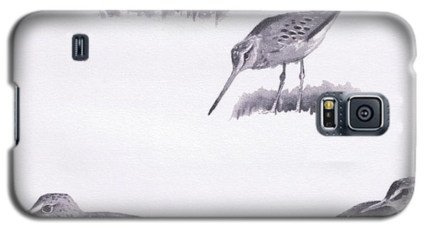 Godwits And Green Sandpipers Galaxy S5 Case by Archibald Thorburn