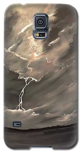 Galaxy S5 Case featuring the painting Going Down A Storm by Scott Wilmot