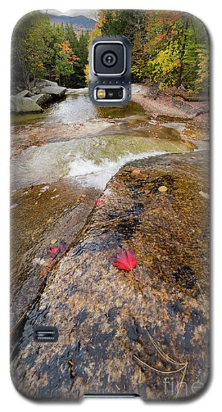 Galaxy S5 Case featuring the photograph Going With The Flow, Step Falls, Newry, Maine #40086 by John Bald