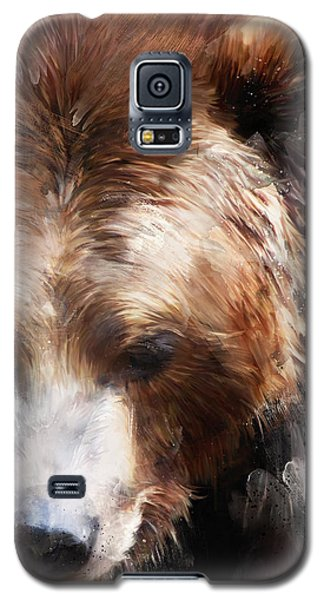 Bear Galaxy S5 Case - Bear // Gold by Amy Hamilton