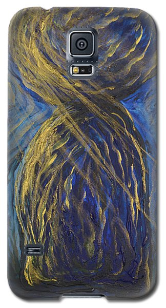 Gold And Blue Latte Stone Galaxy S5 Case