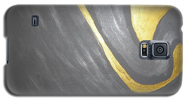 Galaxy S5 Case featuring the painting Gold And Gray by Barbara Yearty