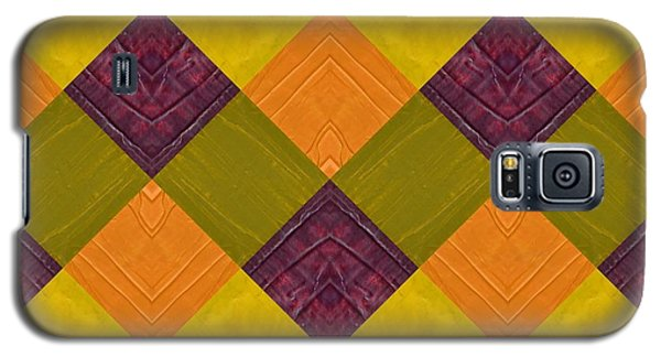 Gold And Green With Orange 2.0 Galaxy S5 Case by Michelle Calkins