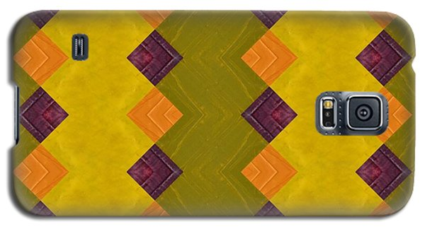 Gold And Green With Orange  Galaxy S5 Case by Michelle Calkins
