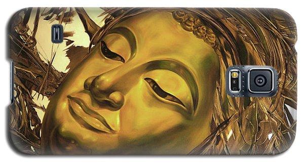 Gold Buddha Head Galaxy S5 Case by Chonkhet Phanwichien