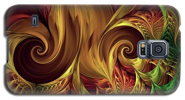 Gold Curl Galaxy S5 Case