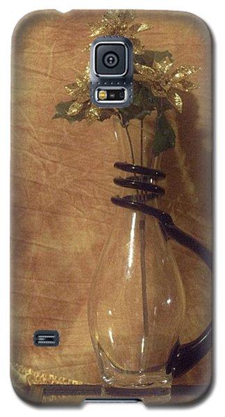 Gold Flower Vase Galaxy S5 Case