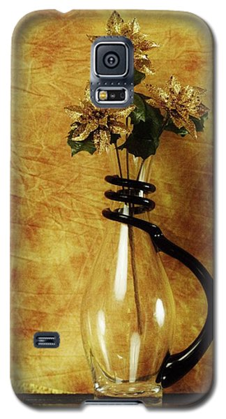 Gold Flowers In Vase Galaxy S5 Case