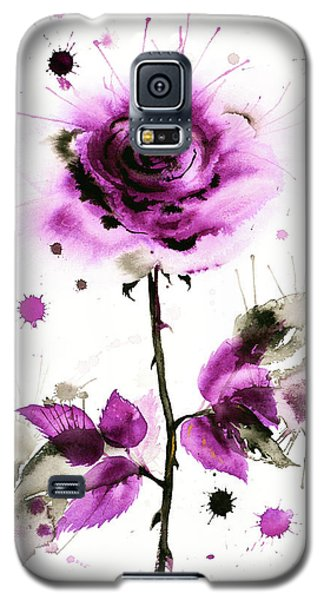 Gold Heart Of The Rose Galaxy S5 Case