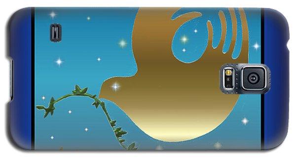 Gold Peace Dove Galaxy S5 Case