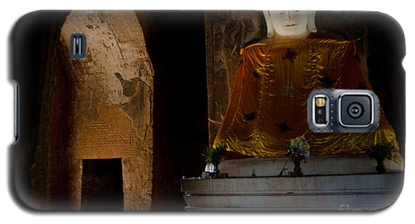 Gold Shrouded Buddha In Burma Basks In Natural Light By Temple Portal Galaxy S5 Case