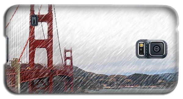 Golde Gate Rain Galaxy S5 Case