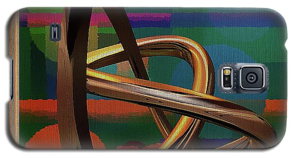 Golden Abstract Galaxy S5 Case